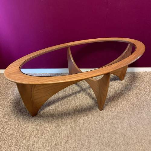 G Plan Astro Oval Teak and Glass Coffee Table image-1