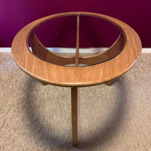 G Plan Astro Oval Teak and Glass Coffee Table image-2