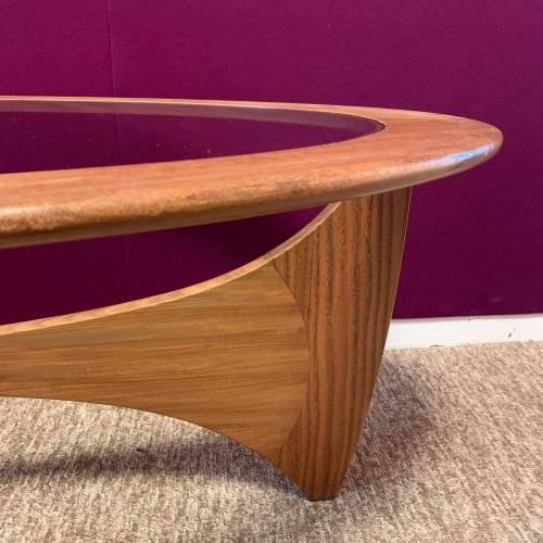 G Plan Astro Oval Teak and Glass Coffee Table image-5