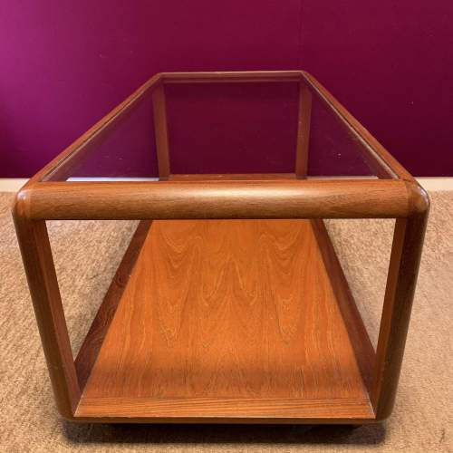 G Plan Cube Teak and Glass Coffee Table image-2
