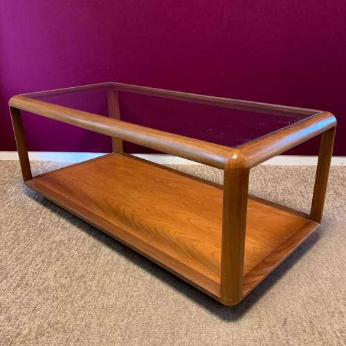 G Plan Cube Teak and Glass Coffee Table image-3