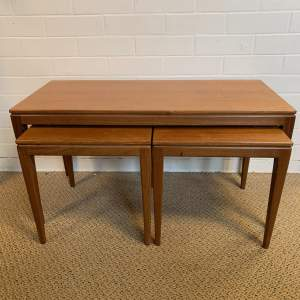 Nest of Three Retro Teak Tables