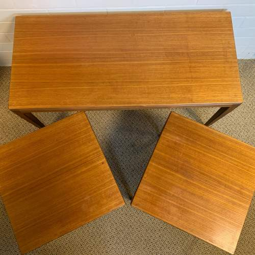 Nest of Three Retro Teak Tables image-3
