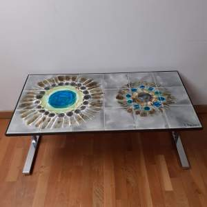 Juliette Belarti Design Vintage Retro Hand-Painted Coffee Table