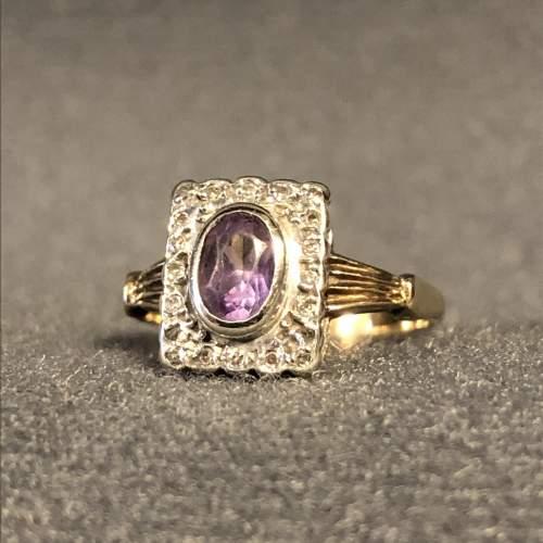 Vintage Gold Amethyst Ring image-1