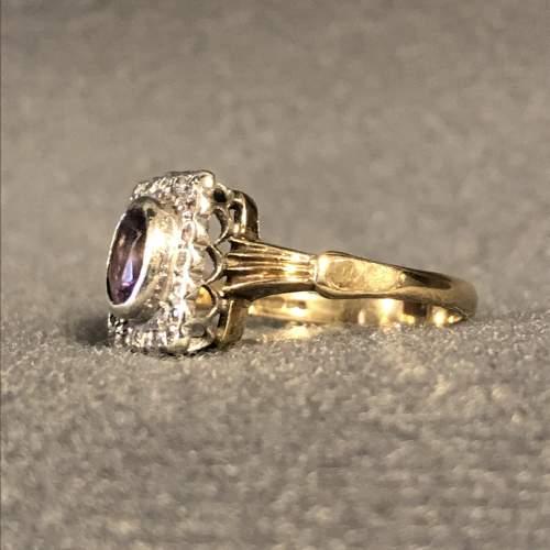Vintage Gold Amethyst Ring image-2