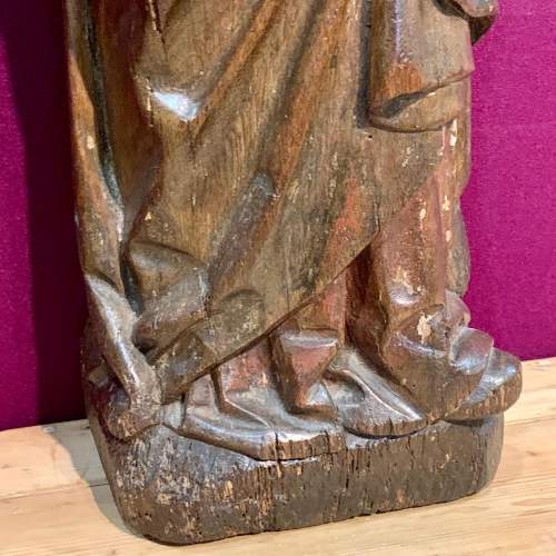 Fine 15th Century Carved Wooden Sculpture of the Teaching of Mary image-3
