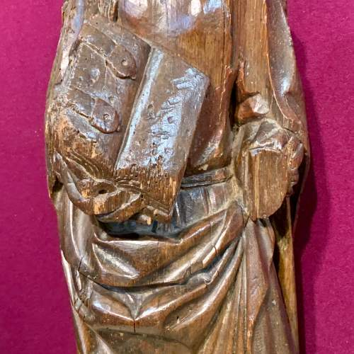 Fine 15th Century Carved Wooden Sculpture of the Teaching of Mary image-4