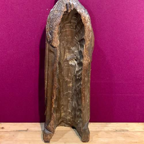 Fine 15th Century Carved Wooden Sculpture of the Teaching of Mary image-6