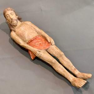 Early 16th Century Polychrome Carved Limewood Sculpture of Christ