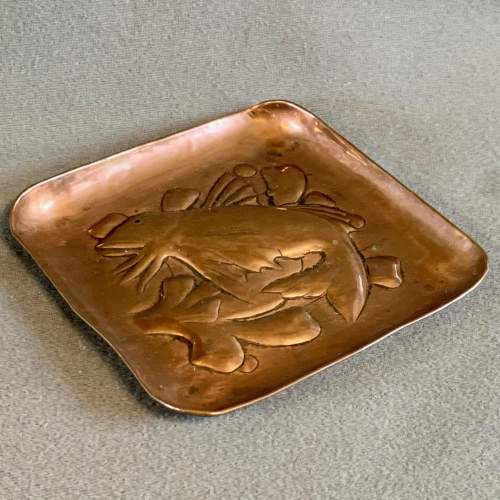 Newlyn Arts and Crafts Copper Fish Tray image-2