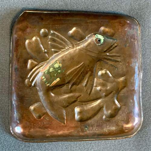 Newlyn Arts and Crafts Copper Fish Tray image-5