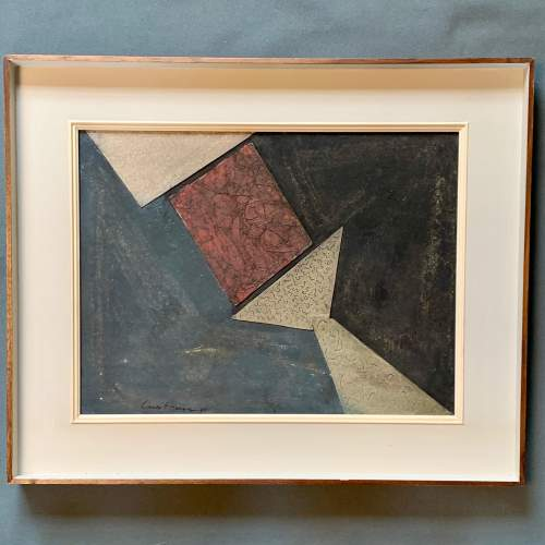 Lucio Munzo Untitled Abstract Mixed Media on Wood image-1