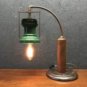 Rail Station Gas Wall Light Converted to Electric Table Lamp