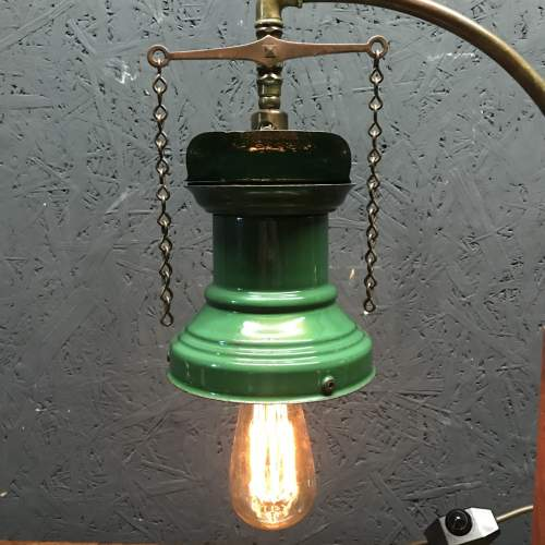 Rail Station Gas Wall Light Converted to Electric Table Lamp image-3