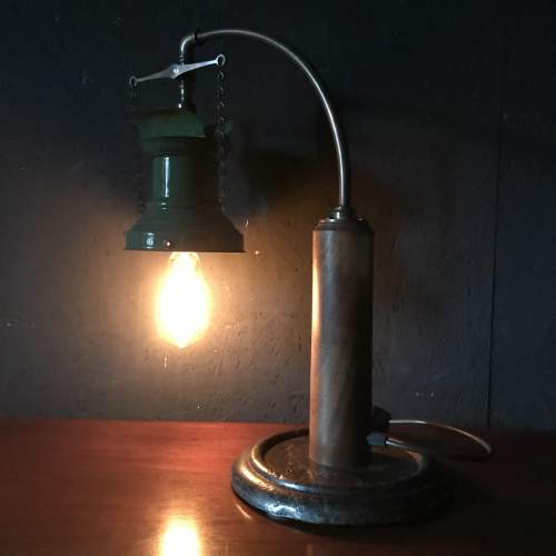 Rail Station Gas Wall Light Converted to Electric Table Lamp image-5