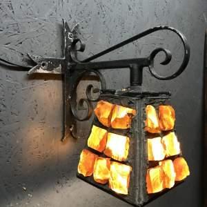 Very Rare Single Colour Glass Vintage Peter Marsh Wall Lamp