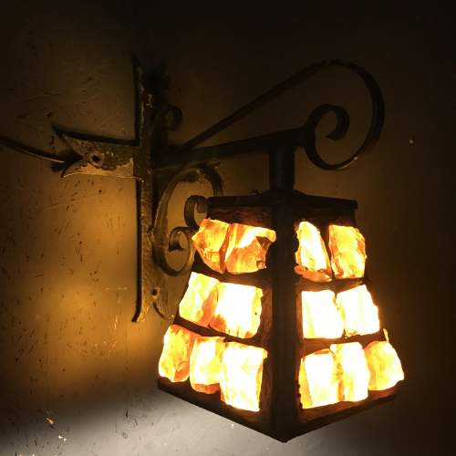 Very Rare Single Colour Glass Vintage Peter Marsh Wall Lamp image-2