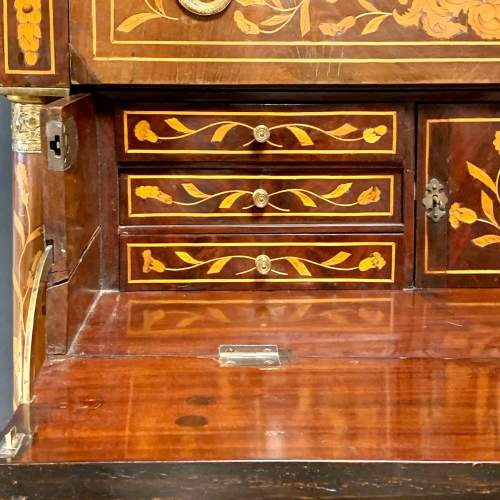 19th Century Marquetry Secretaire Chest image-4