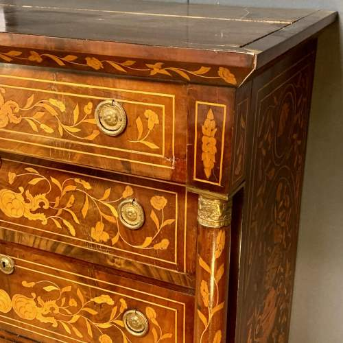 19th Century Marquetry Secretaire Chest image-3