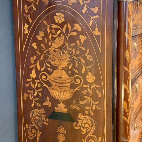 19th Century Marquetry Secretaire Chest image-6