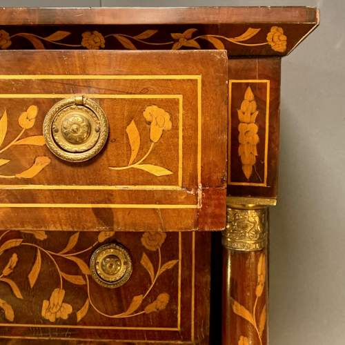 19th Century Marquetry Secretaire Chest image-5