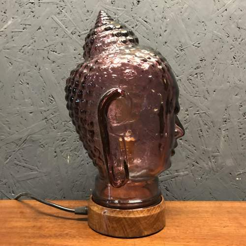 Vintage Glass Buddha Head Repurposed into a Great Lamp image-4
