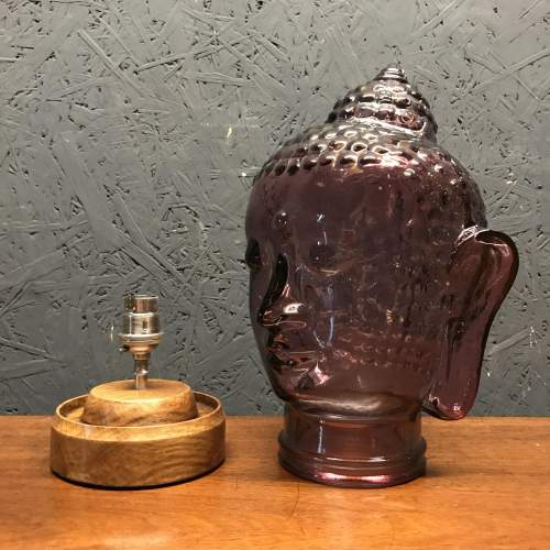 Vintage Glass Buddha Head Repurposed into a Great Lamp image-6