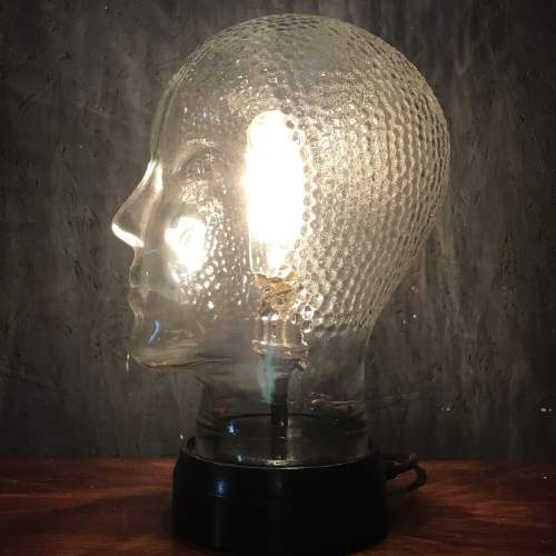 Vintage Glass Female Mannequin Head Repurposed into a Great Lamp image-2