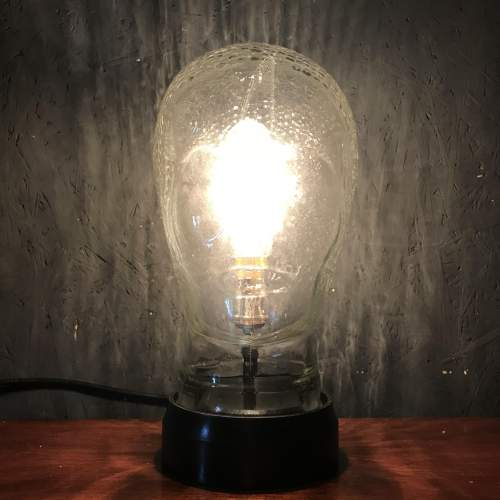 Vintage Glass Female Mannequin Head Repurposed into a Great Lamp image-3