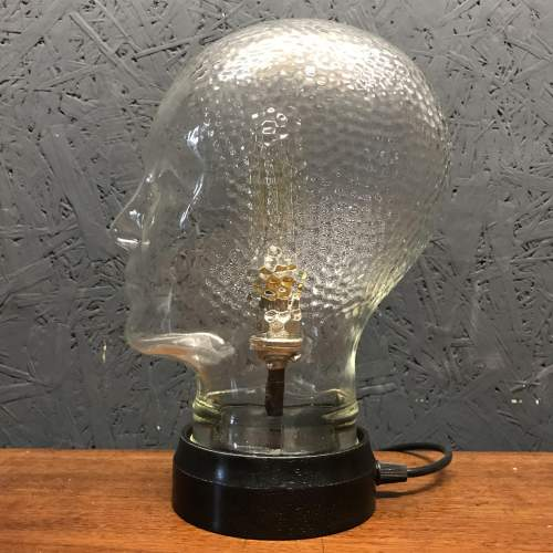 Vintage Glass Female Mannequin Head Repurposed into a Great Lamp image-5