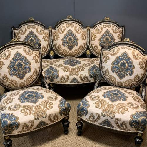 French Drawing Room Suite with Two Chairs and Sofa image-1