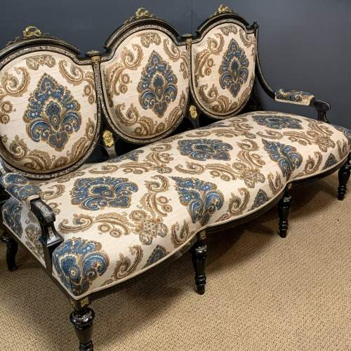 French Drawing Room Suite with Two Chairs and Sofa image-2