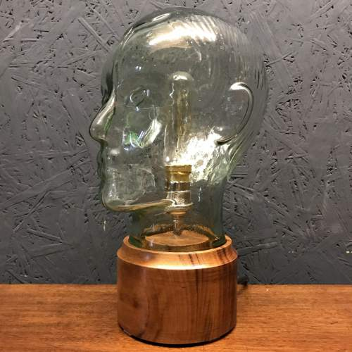 Vintage Glass Male Mannequin Head Repurposed into a Great Lamp image-5