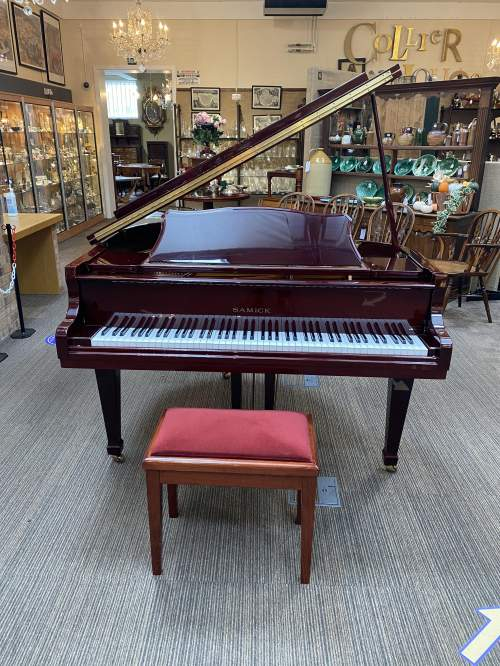 Samick Dark Walnut Baby Grand Piano image-6