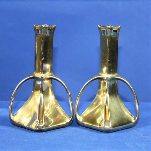 Pair of Arts and Crafts Brass Spill Vases image-2