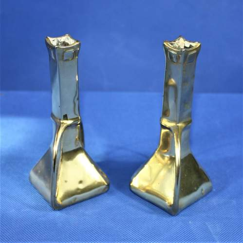 Pair of Arts and Crafts Brass Spill Vases image-4