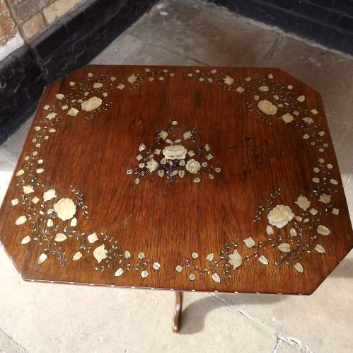 Victorian Inlaid Rosewood Fitted ladies Work Table and Contents image-3