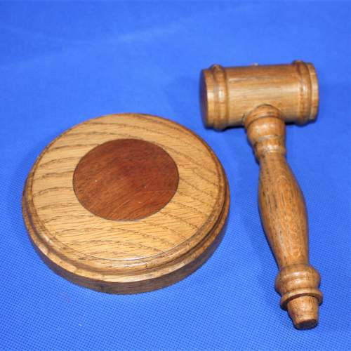 Oak Gavel and Sound Block image-2