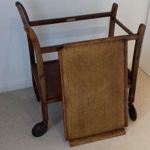 Mid 20th Century Oak Tea Trolley image-3