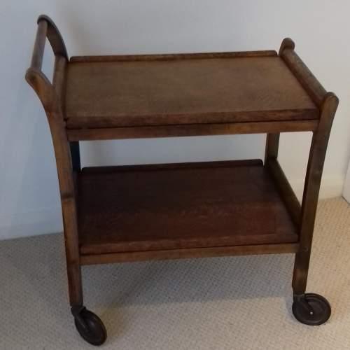 Mid 20th Century Oak Tea Trolley image-1