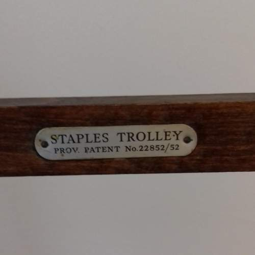 Mid 20th Century Oak Tea Trolley image-5