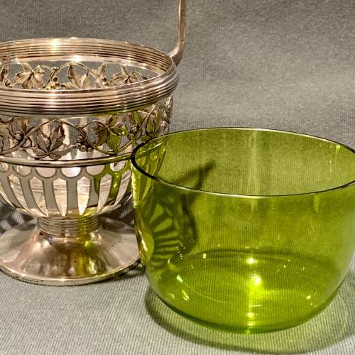 WMF Silver Plate Bowl with Green Glass Liner image-6