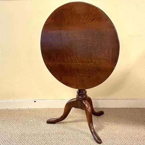 George II Oak Tripod Table image-3