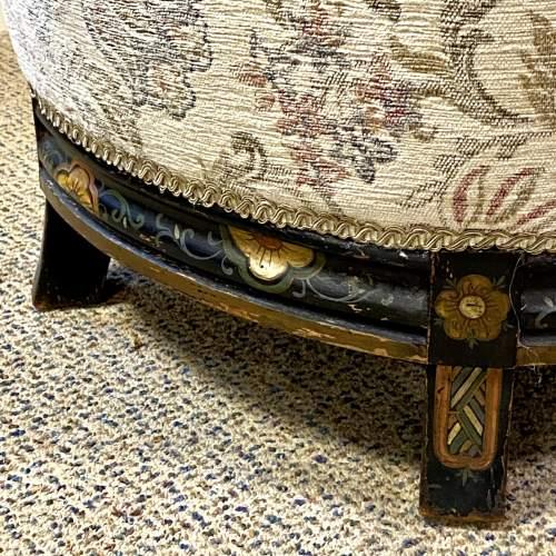 Victorian Ebonised Upholstered Tub Chair image-5