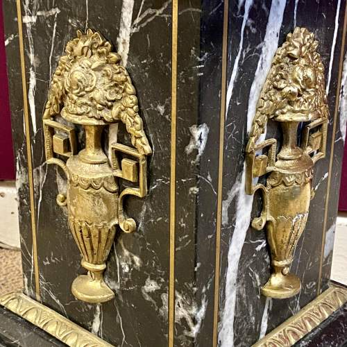 Fine Quality Italian Striated Marble and Gilt Brass Pedestal image-6