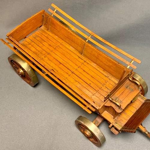 20th Century Scratch Built Haycart Scale Model image-4