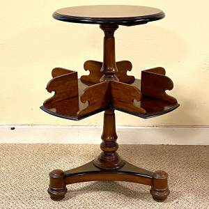 Fine Quality 19th Century Burr Walnut Library Book Table