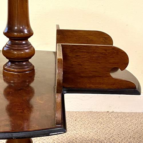 Fine Quality 19th Century Burr Walnut Library Book Table image-3