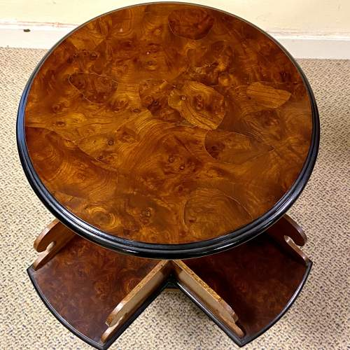 Fine Quality 19th Century Burr Walnut Library Book Table image-5